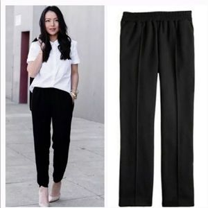 J. Crew Tailored Wool Pant in Black Size 8